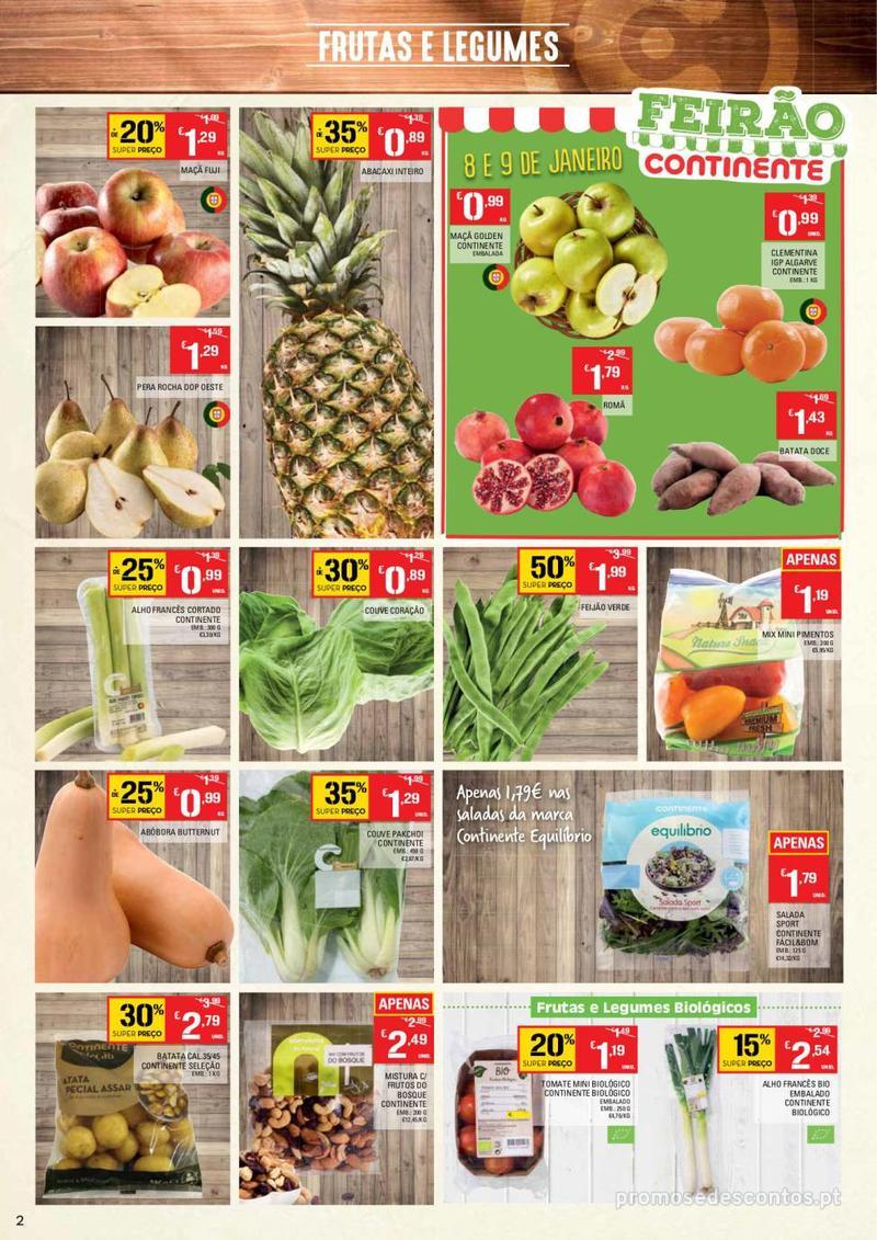 Folheto Continente Tudo aos preços mais baixos  - 8 de Janeiro a 14 de Janeiro - página 2