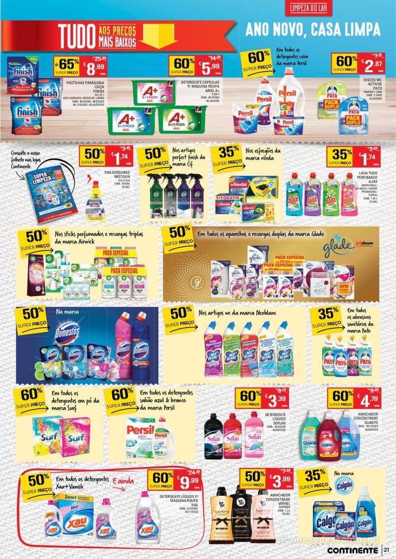Folheto Continente Tudo aos preços mais baixos  - 8 de Janeiro a 14 de Janeiro - página 21