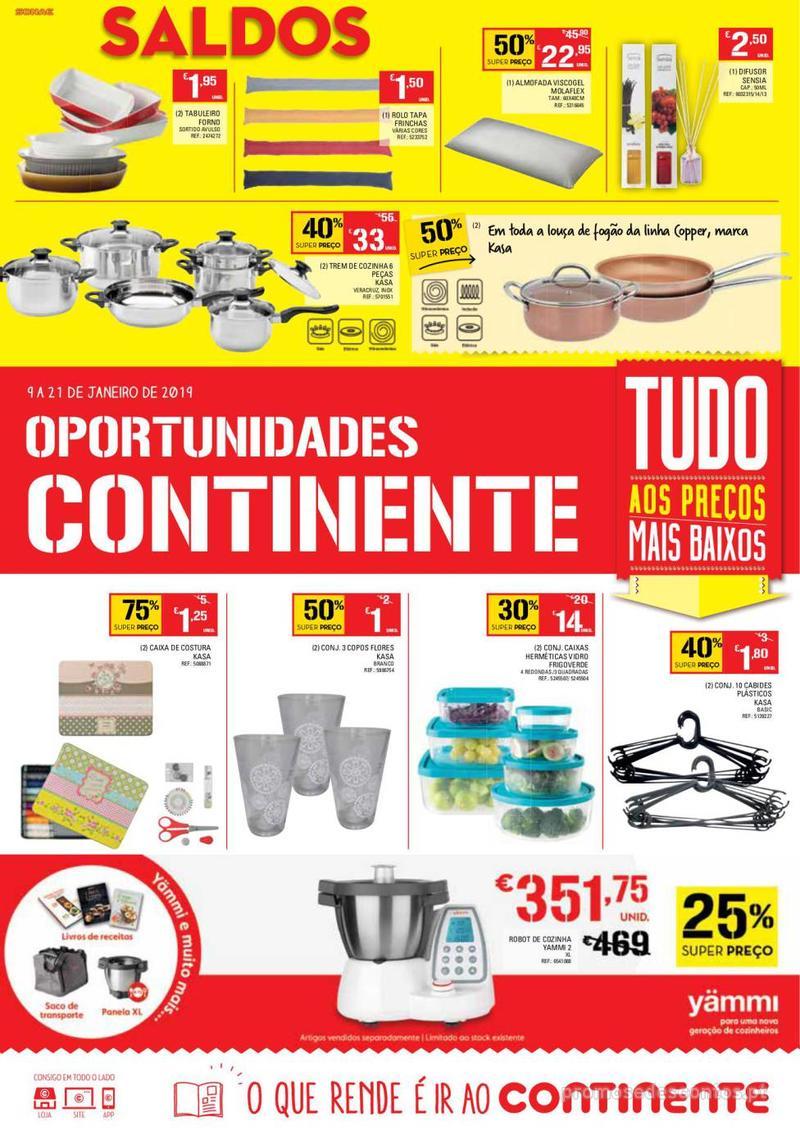 Folheto Continente Oportunidades - 9 de Janeiro a 21 de Janeiro - página 1