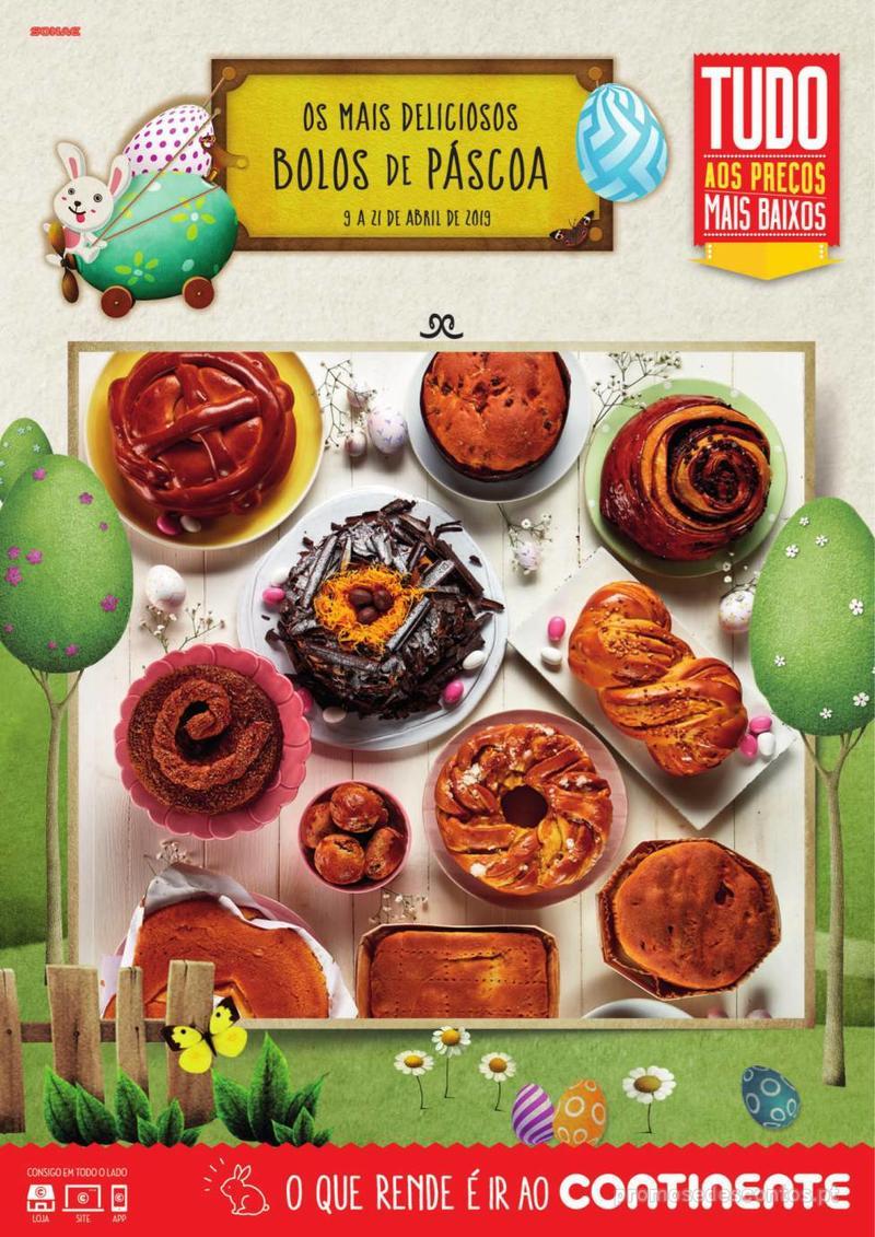Folheto Continente Os mais deliciosos Bolos de Páscoa - 9 de Abril a 21 de Abril - página 1