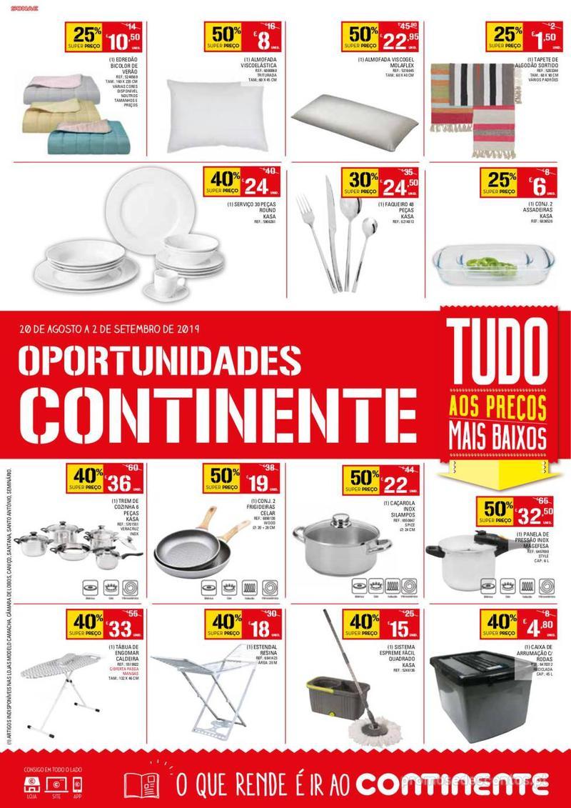 Folheto Continente Oportunidades - 20 de Agosto a 2 de Setembro - página 1