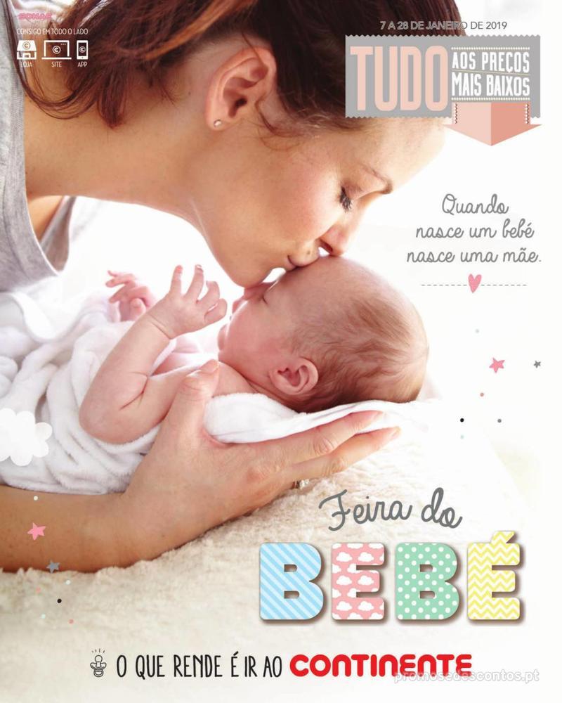 Folheto Continente Feira do Bebé - Continente Modelo - 7 de Janeiro a 28 de Janeiro - página 1