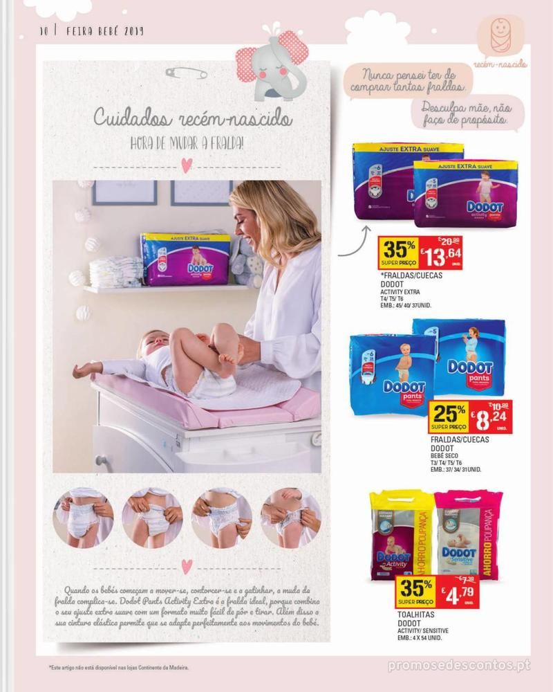 Folheto Continente Feira do Bebé - Continente Modelo - 7 de Janeiro a 28 de Janeiro - página 10
