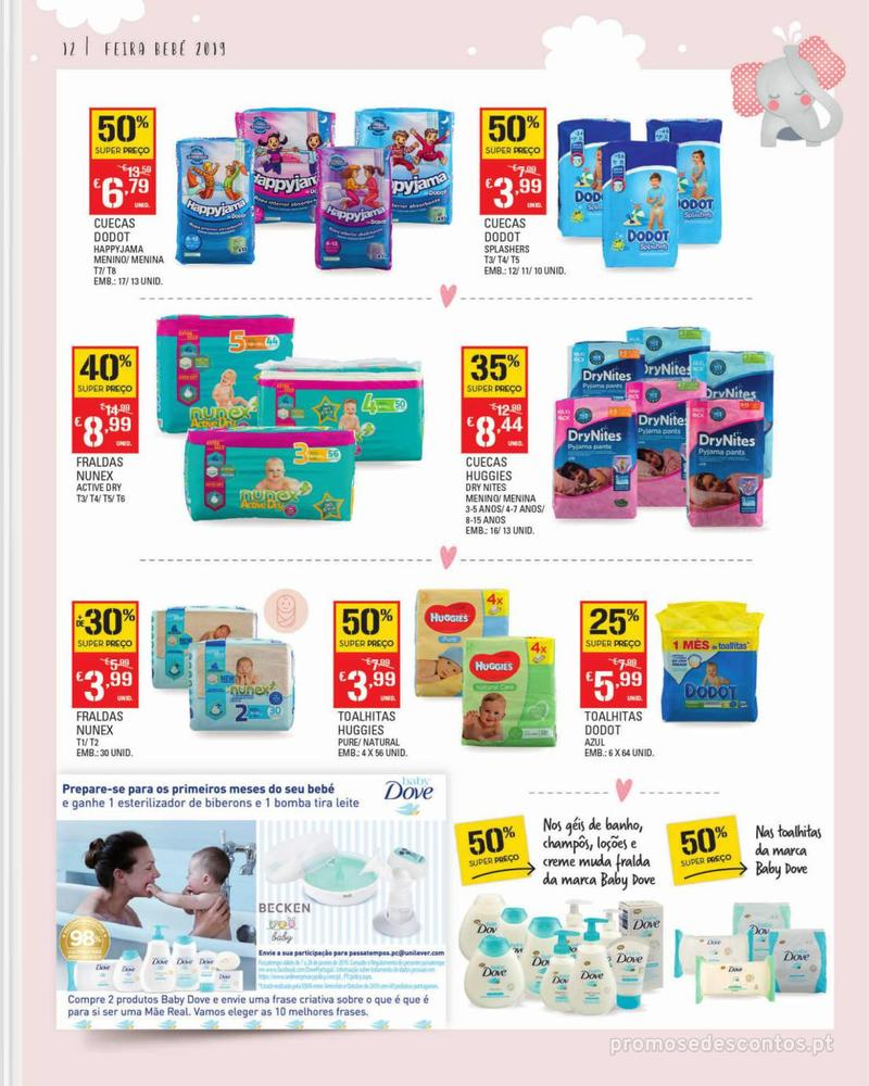 Folheto Continente Feira do Bebé - Continente Modelo - 7 de Janeiro a 28 de Janeiro - página 12