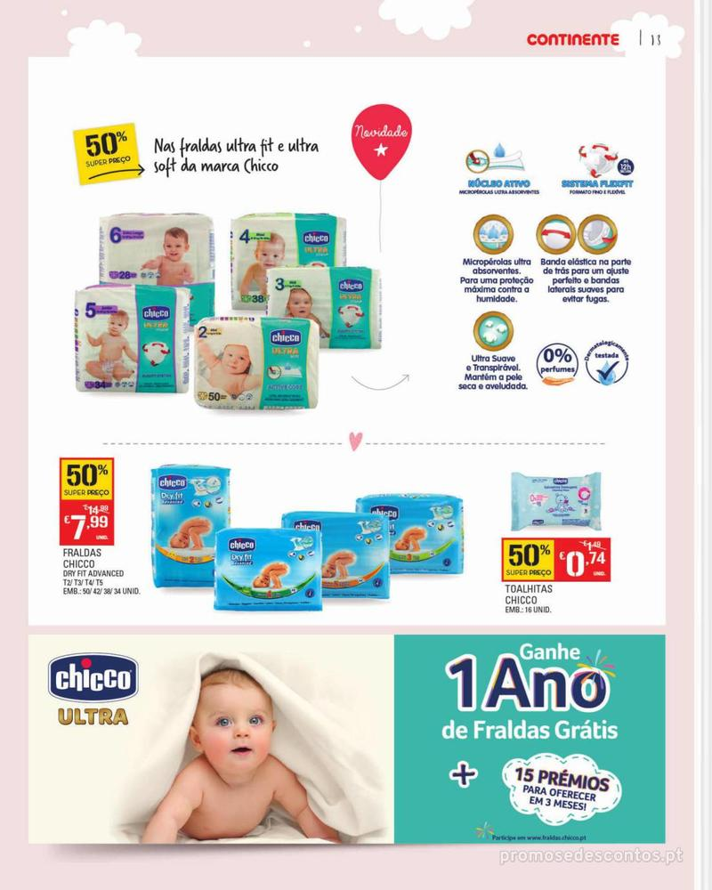 Folheto Continente Feira do Bebé - Continente Modelo - 7 de Janeiro a 28 de Janeiro - página 13