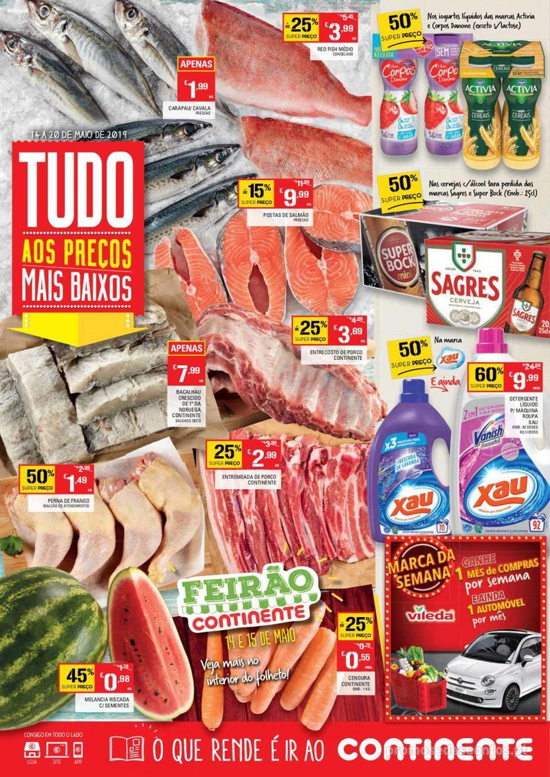 Folheto Continente Tudo aos preços mais baixos - Lojas Bom dia - 14 de Maio a 20 de Maio - página 1