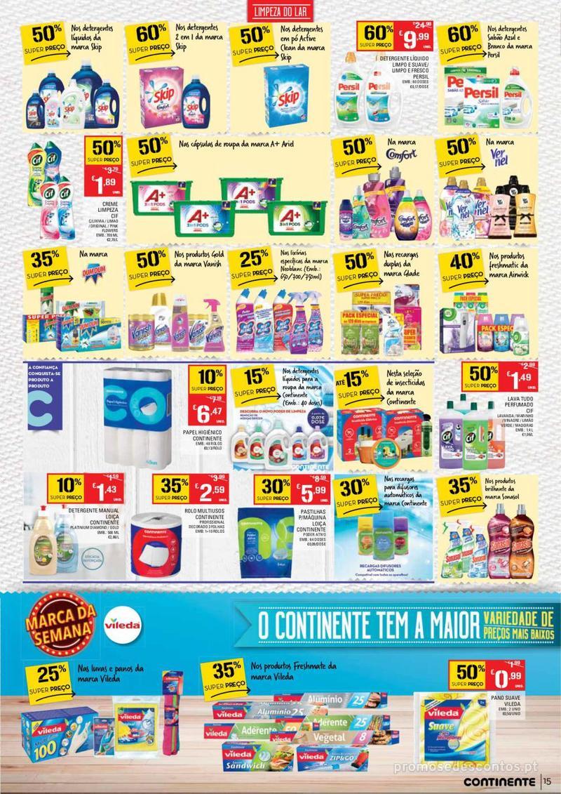 Folheto Continente Tudo aos preços mais baixos - Lojas Bom dia - 14 de Maio a 20 de Maio - página 15