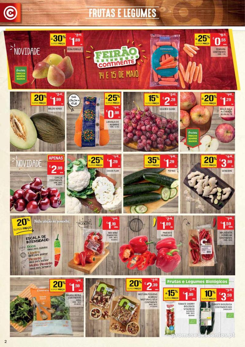 Folheto Continente Tudo aos preços mais baixos - Lojas Bom dia - 14 de Maio a 20 de Maio - página 2