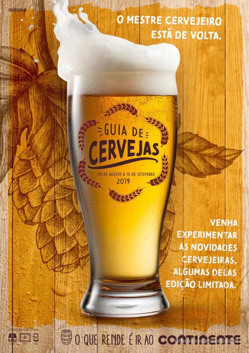 Folheto Continente Guia de Cervejas - 20 de Agosto a 2 de Setembro - página 1