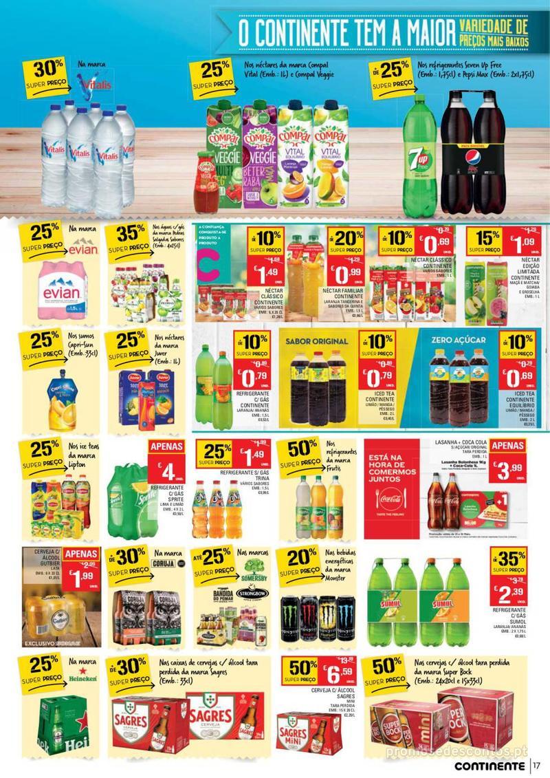 Folheto Continente Tudo aos preços mais baixos - 14 de Maio a 20 de Maio - página 17