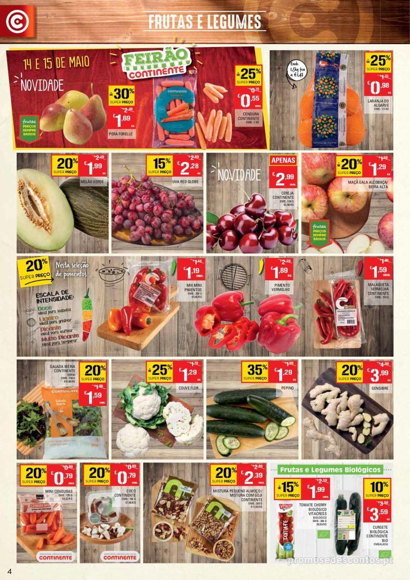 Folheto Continente Tudo aos preços mais baixos - 14 de Maio a 20 de Maio - página 4