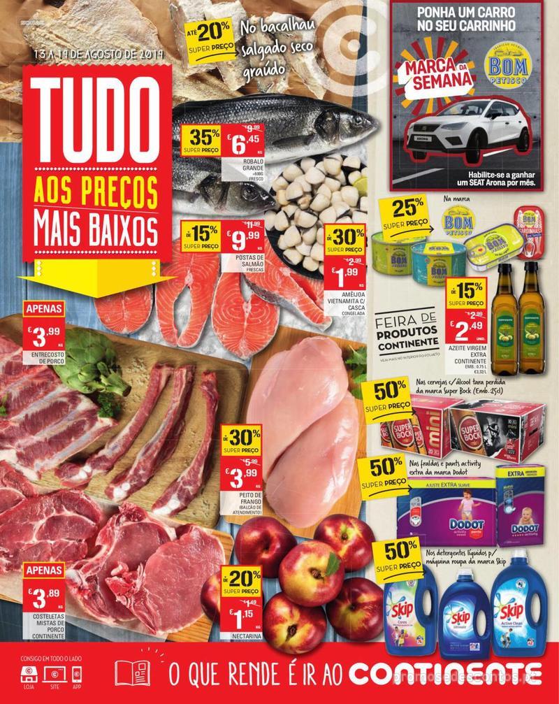 Folheto Continente Tudo aos preços mais baixos - Madeira - 13 de Agosto a 19 de Agosto pág. 1