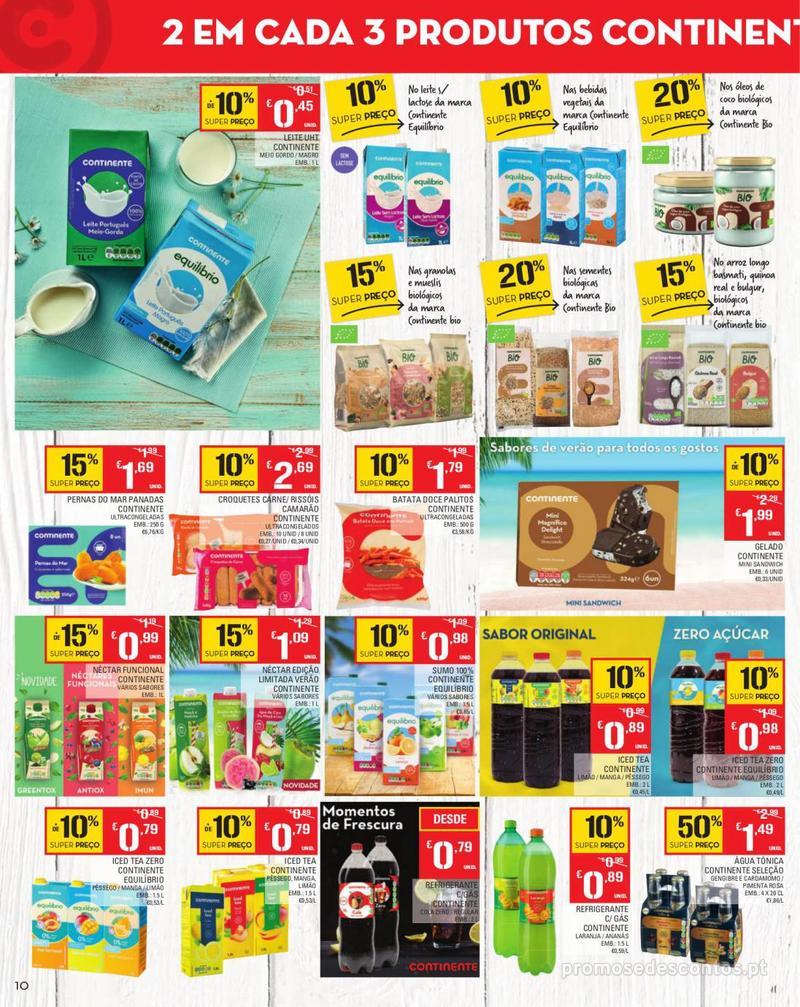 Folheto Continente Tudo aos preços mais baixos - Madeira - 13 de Agosto a 19 de Agosto pág. 10