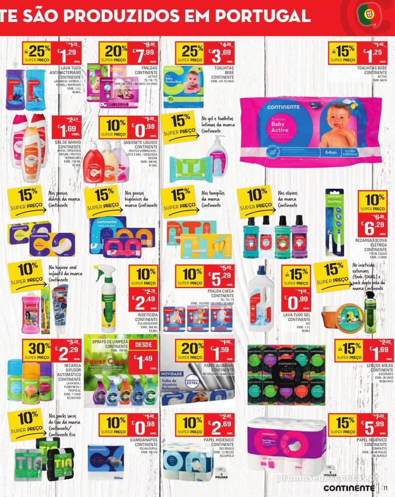 Folheto Continente Tudo aos preços mais baixos - Madeira - 13 de Agosto a 19 de Agosto pág. 11