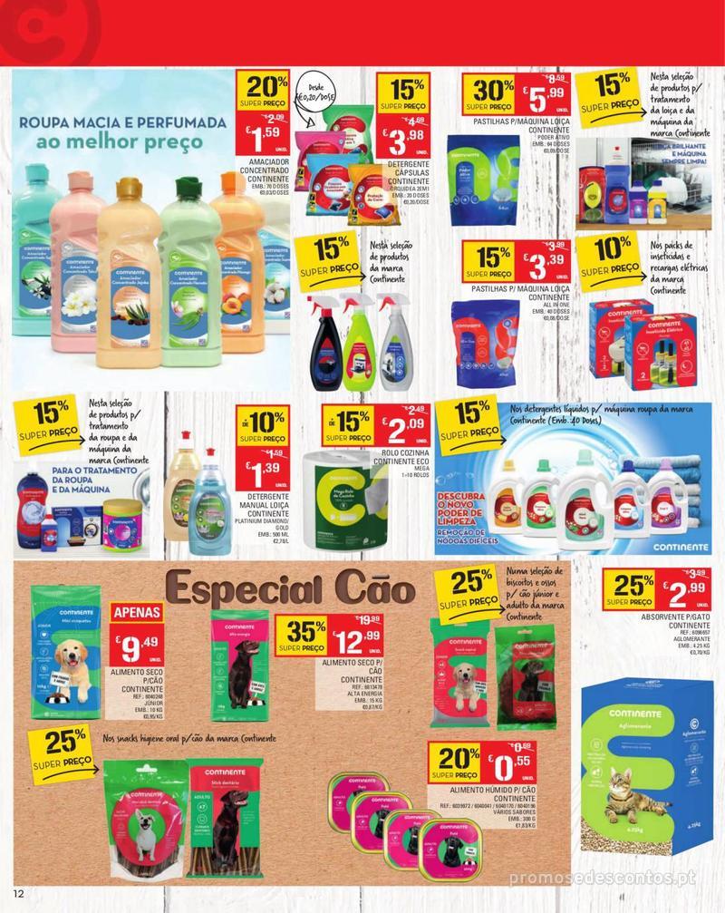 Folheto Continente Tudo aos preços mais baixos - Madeira - 13 de Agosto a 19 de Agosto pág. 12