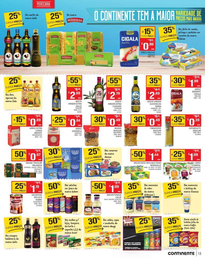 Folheto Continente Tudo aos preços mais baixos - Madeira - 13 de Agosto a 19 de Agosto pág. 13