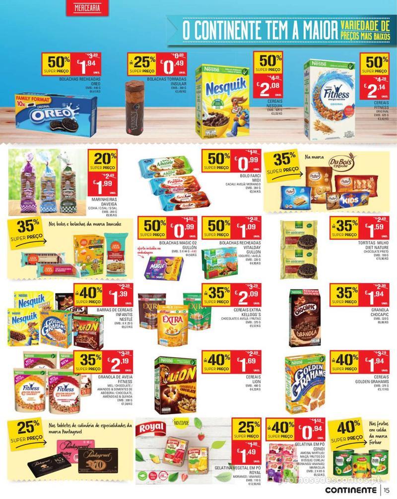 Folheto Continente Tudo aos preços mais baixos - Madeira - 13 de Agosto a 19 de Agosto pág. 15