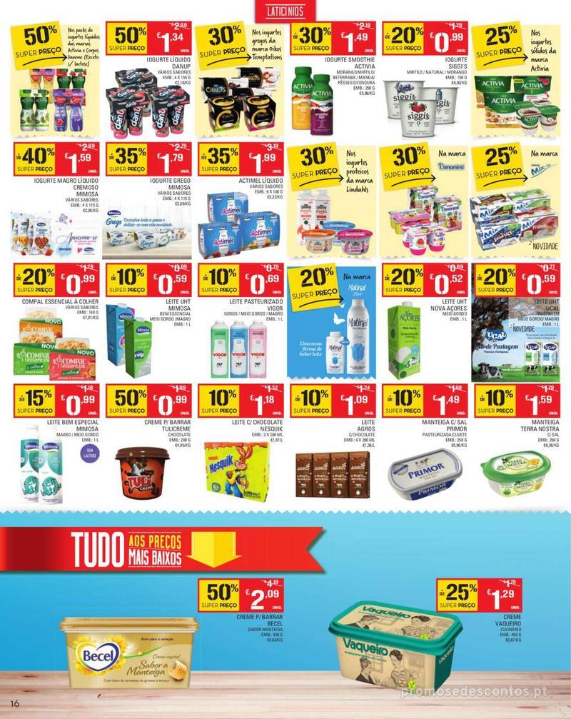 Folheto Continente Tudo aos preços mais baixos - Madeira - 13 de Agosto a 19 de Agosto pág. 16