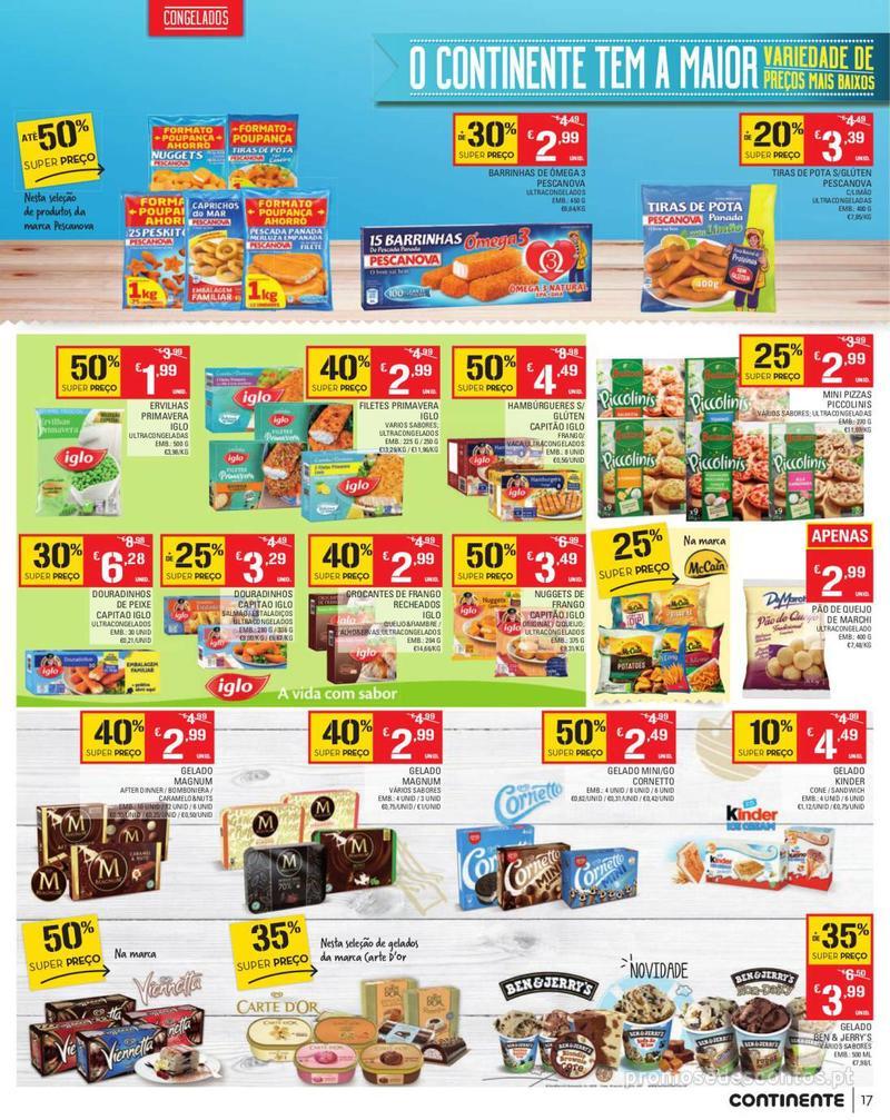 Folheto Continente Tudo aos preços mais baixos - Madeira - 13 de Agosto a 19 de Agosto pág. 17