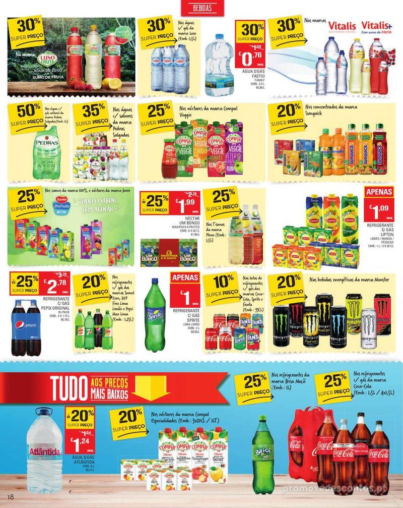 Folheto Continente Tudo aos preços mais baixos - Madeira - 13 de Agosto a 19 de Agosto pág. 18