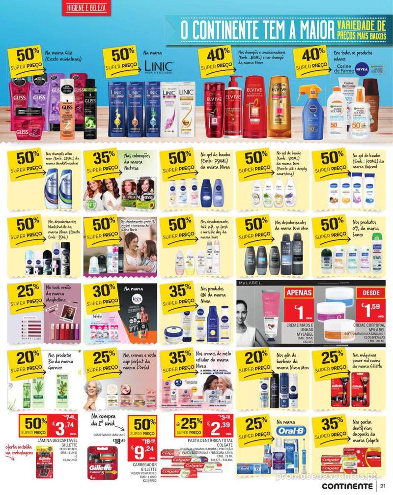 Folheto Continente Tudo aos preços mais baixos - Madeira - 13 de Agosto a 19 de Agosto pág. 21