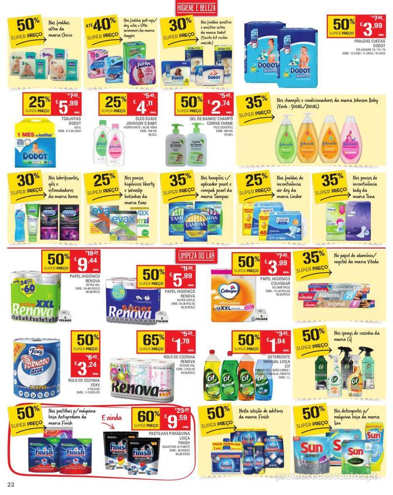 Folheto Continente Tudo aos preços mais baixos - Madeira - 13 de Agosto a 19 de Agosto pág. 22