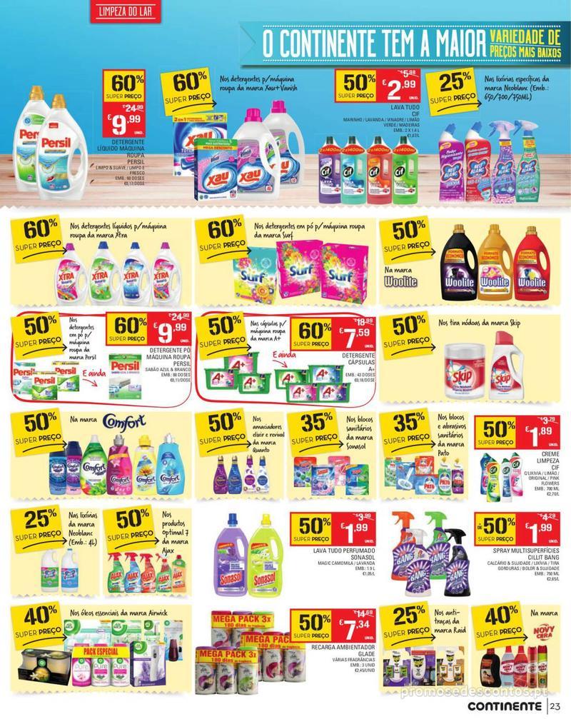 Folheto Continente Tudo aos preços mais baixos - Madeira - 13 de Agosto a 19 de Agosto pág. 23