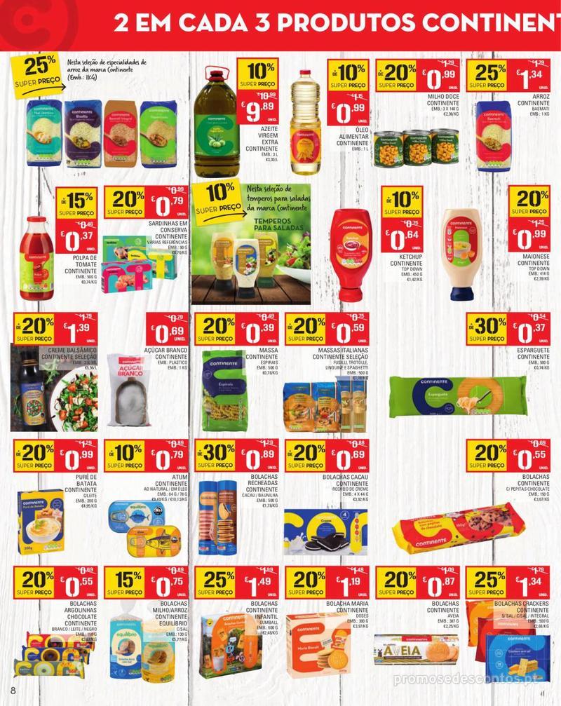 Folheto Continente Tudo aos preços mais baixos - Madeira - 13 de Agosto a 19 de Agosto pág. 8