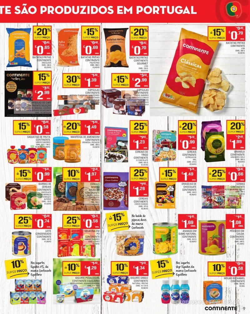 Folheto Continente Tudo aos preços mais baixos - Madeira - 13 de Agosto a 19 de Agosto pág. 9