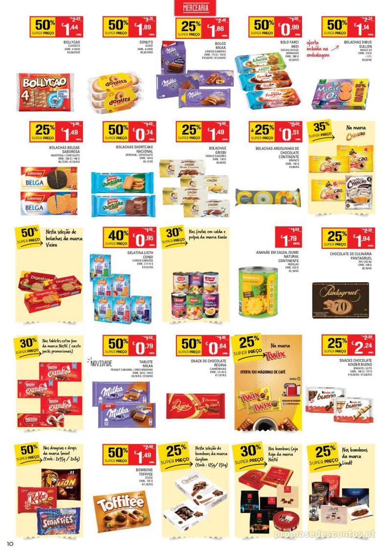 Folheto Continente Tudo aos preços mais baixos - Continente Bom dia - 8 de Janeiro a 14 de Janeiro - página 10