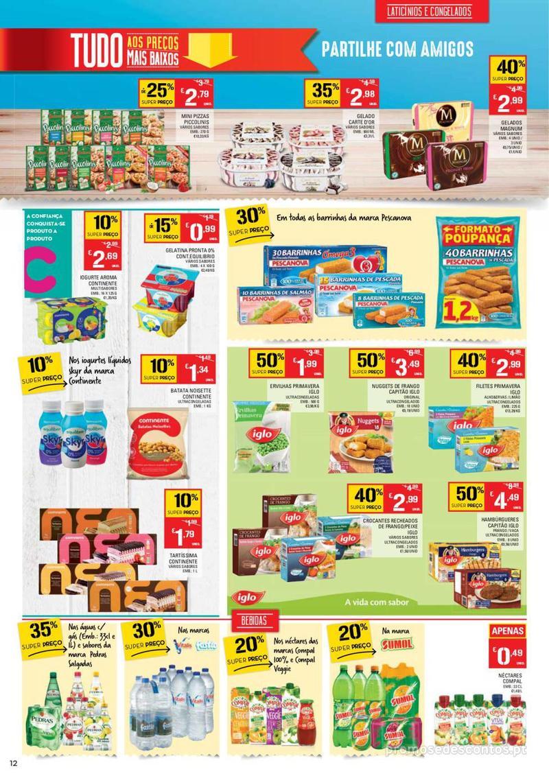 Folheto Continente Tudo aos preços mais baixos - Continente Bom dia - 8 de Janeiro a 14 de Janeiro - página 12