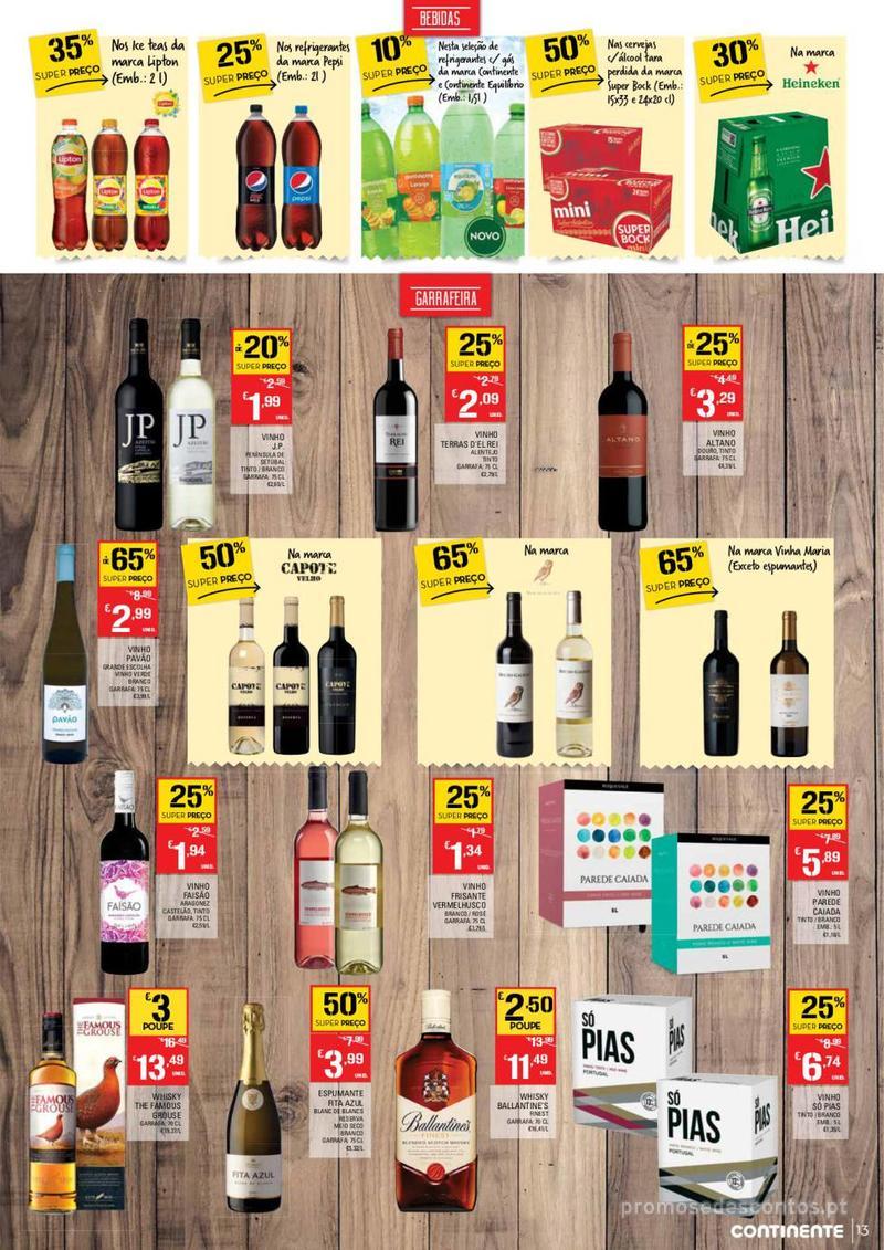 Folheto Continente Tudo aos preços mais baixos - Continente Bom dia - 8 de Janeiro a 14 de Janeiro - página 13