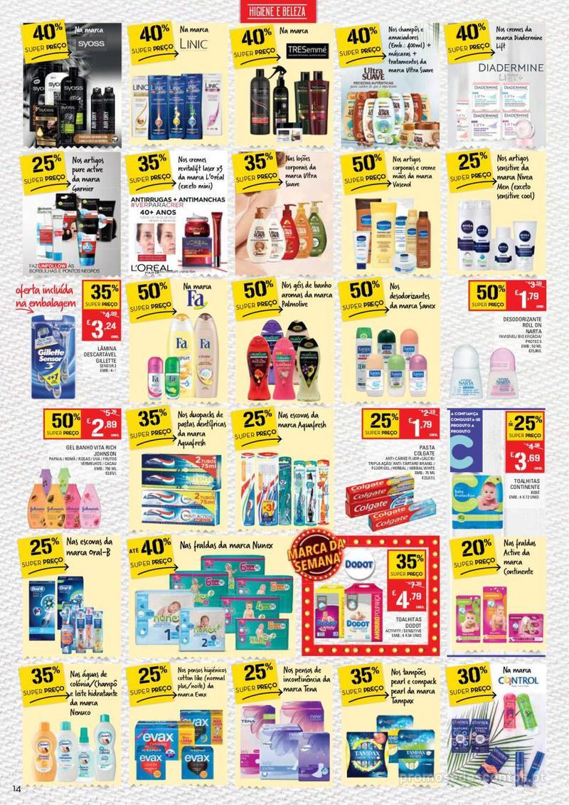 Folheto Continente Tudo aos preços mais baixos - Continente Bom dia - 8 de Janeiro a 14 de Janeiro - página 14