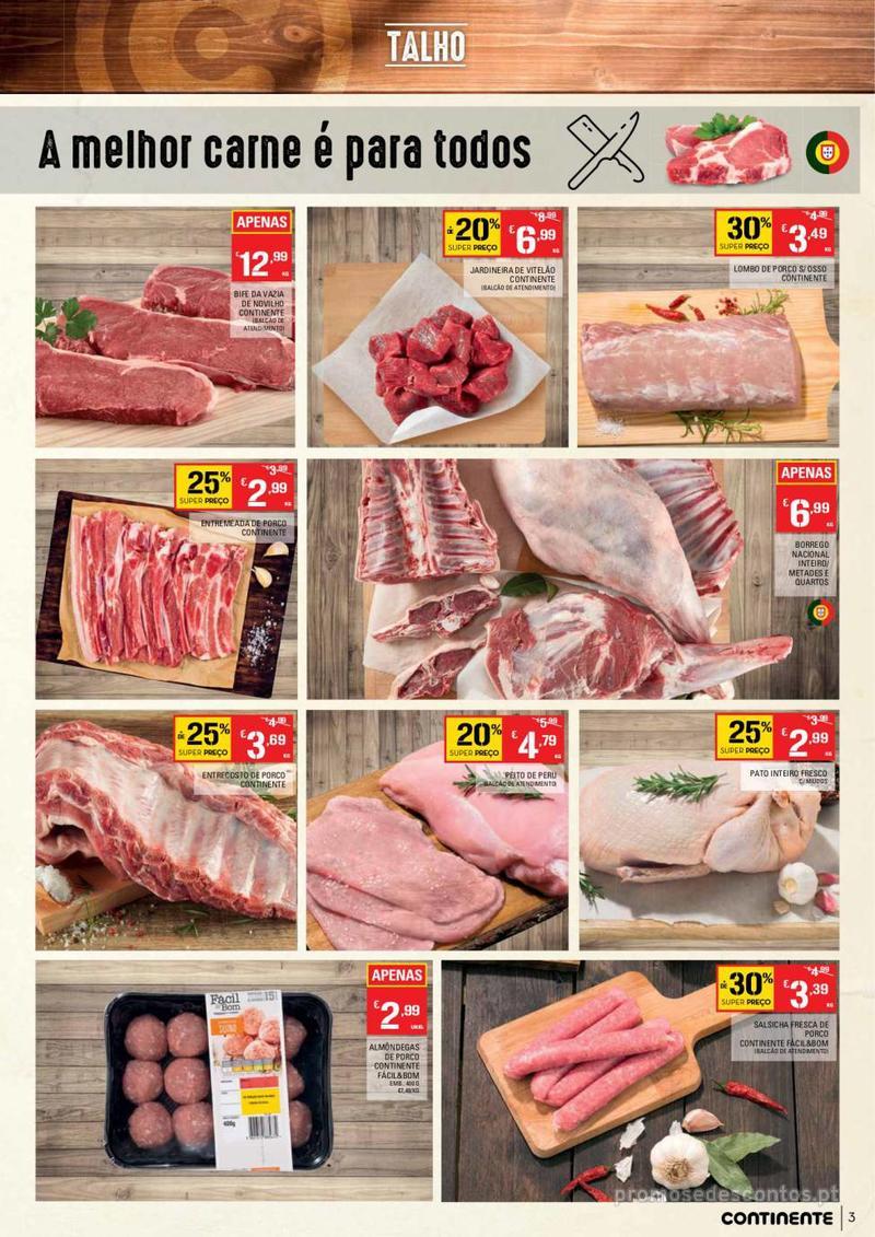 Folheto Continente Tudo aos preços mais baixos - Continente Bom dia - 8 de Janeiro a 14 de Janeiro - página 3