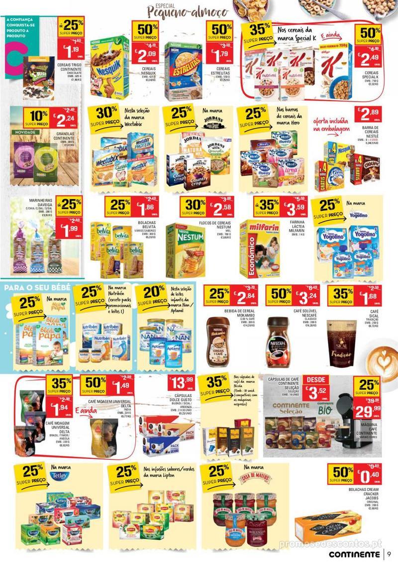 Folheto Continente Tudo aos preços mais baixos - Continente Bom dia - 8 de Janeiro a 14 de Janeiro - página 9