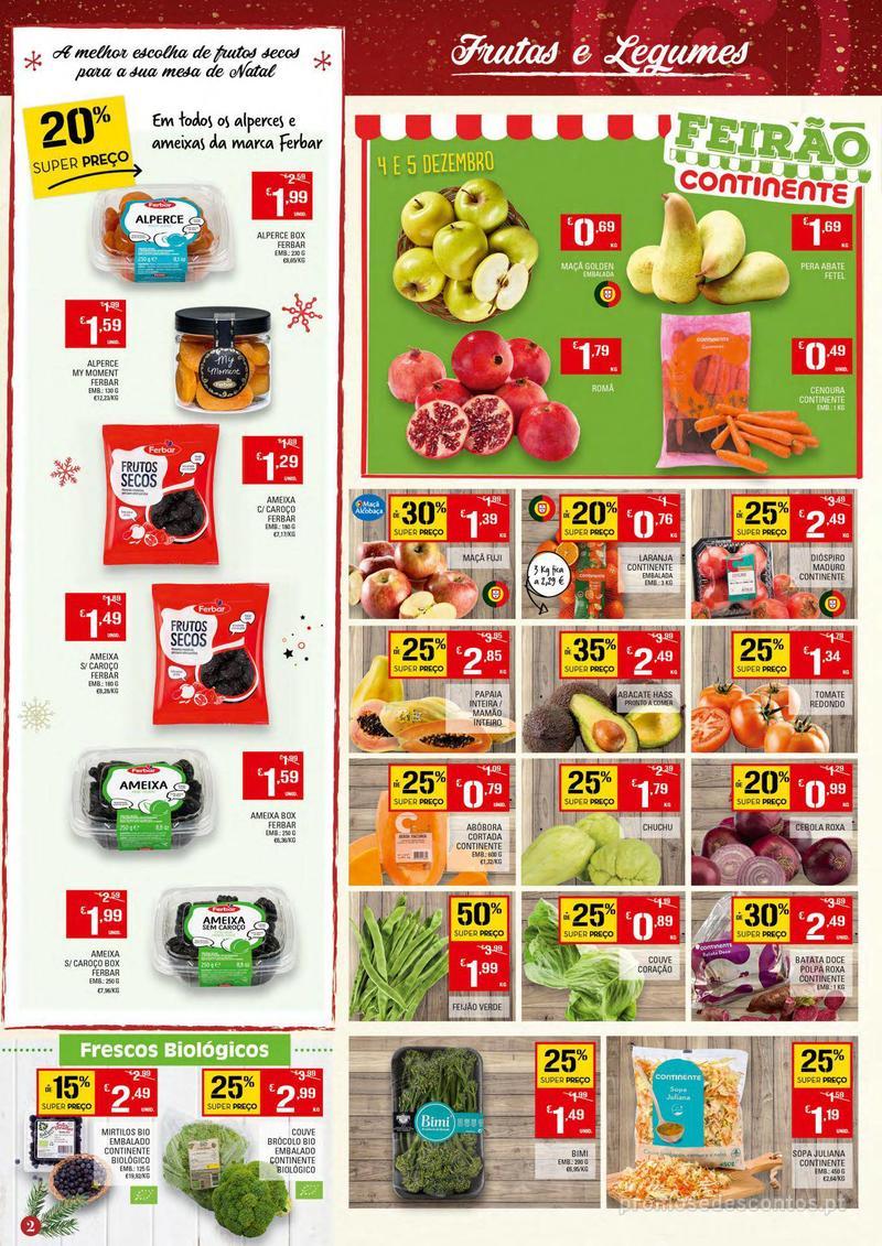 Folheto Continente Tudo aos preços mais baixos - 4 de Dezembro a 10 de Dezembro - página 2