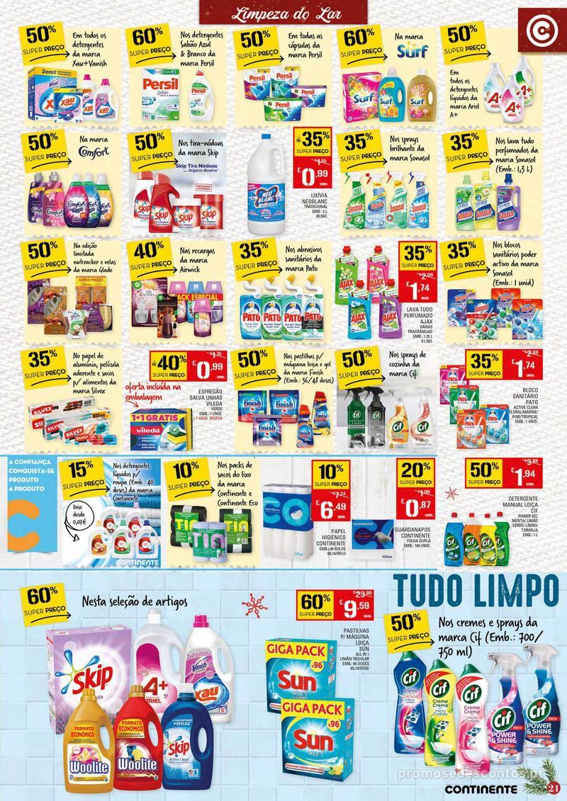 Folheto Continente Tudo aos preços mais baixos - 4 de Dezembro a 10 de Dezembro - página 21