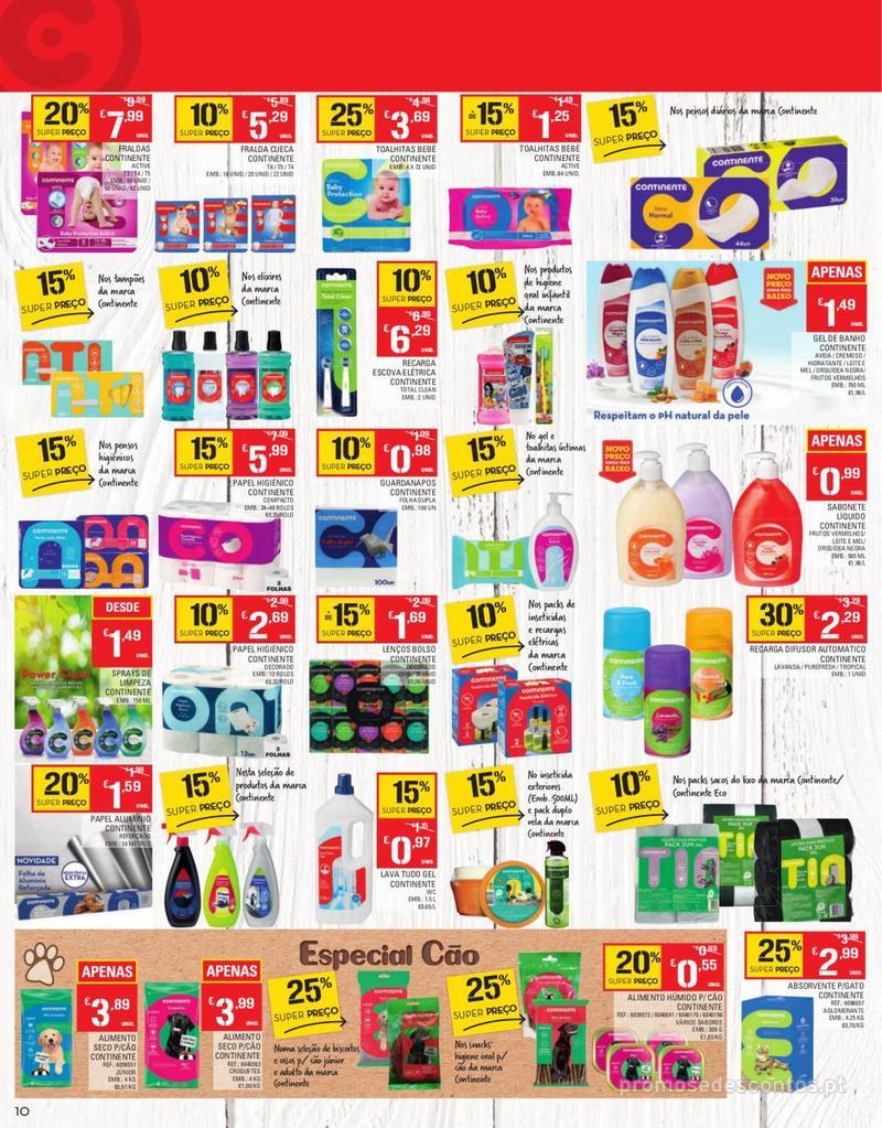 Folheto Continente Tudo aos preços mais baixos - Continente Bom dia - 13 de Agosto a 19 de Agosto - página 10