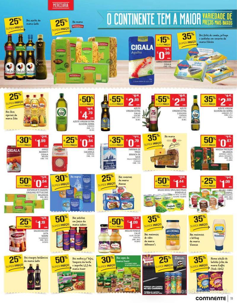 Folheto Continente Tudo aos preços mais baixos - Continente Bom dia - 13 de Agosto a 19 de Agosto - página 11