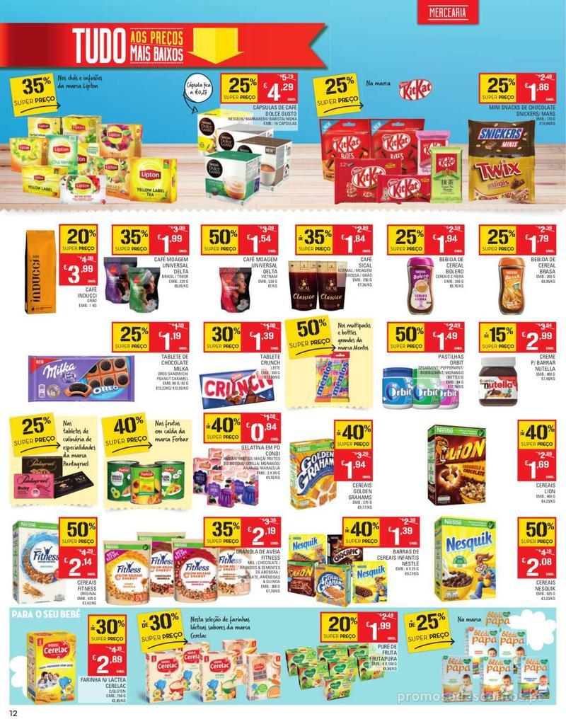 Folheto Continente Tudo aos preços mais baixos - Continente Bom dia - 13 de Agosto a 19 de Agosto - página 12