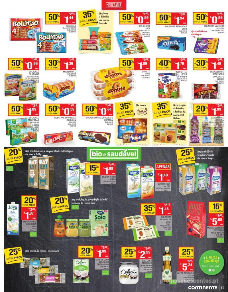 Folheto Continente Tudo aos preços mais baixos - Continente Bom dia - 13 de Agosto a 19 de Agosto - página 13