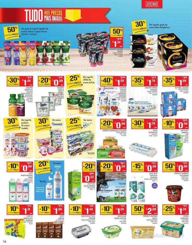 Folheto Continente Tudo aos preços mais baixos - Continente Bom dia - 13 de Agosto a 19 de Agosto - página 14