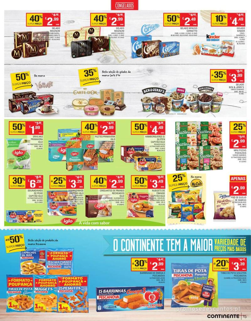 Folheto Continente Tudo aos preços mais baixos - Continente Bom dia - 13 de Agosto a 19 de Agosto - página 15