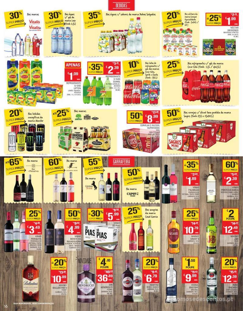 Folheto Continente Tudo aos preços mais baixos - Continente Bom dia - 13 de Agosto a 19 de Agosto - página 16