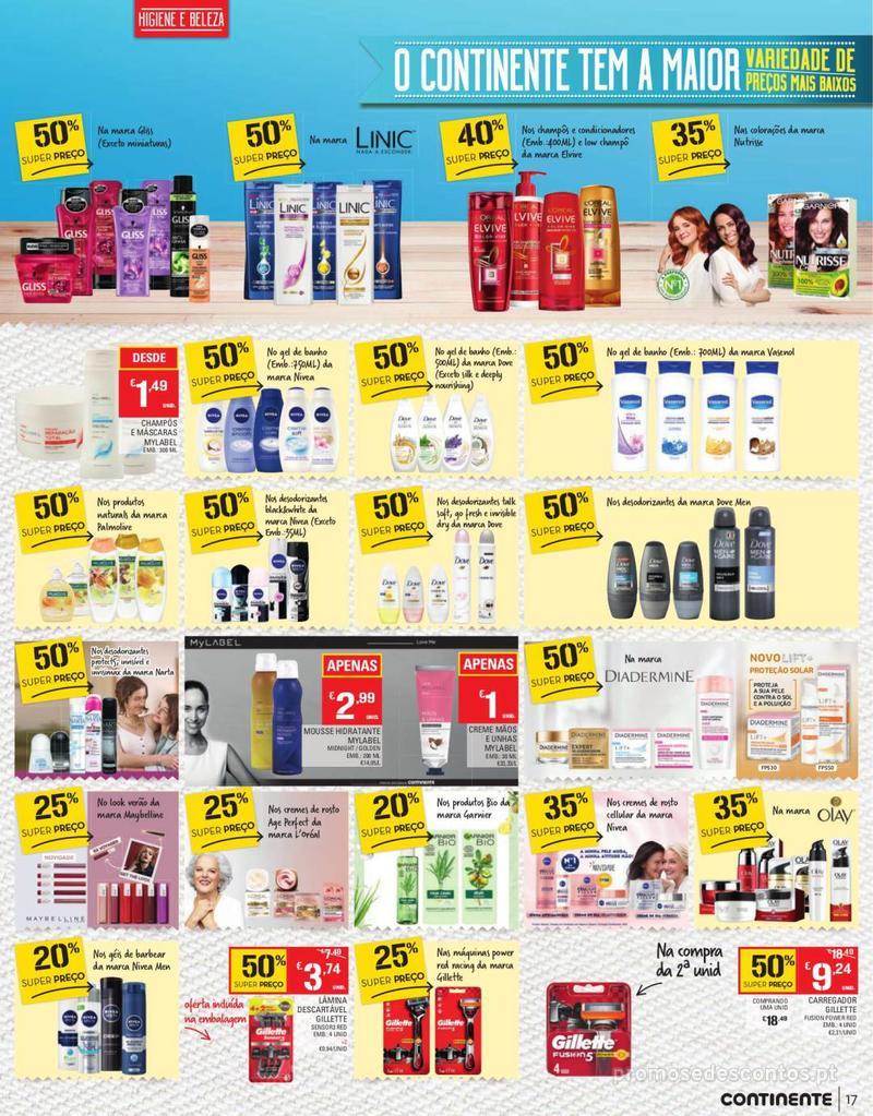Folheto Continente Tudo aos preços mais baixos - Continente Bom dia - 13 de Agosto a 19 de Agosto - página 17