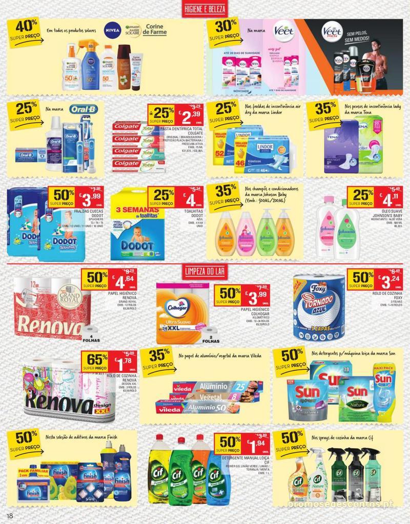 Folheto Continente Tudo aos preços mais baixos - Continente Bom dia - 13 de Agosto a 19 de Agosto - página 18
