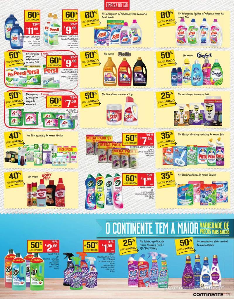 Folheto Continente Tudo aos preços mais baixos - Continente Bom dia - 13 de Agosto a 19 de Agosto - página 19
