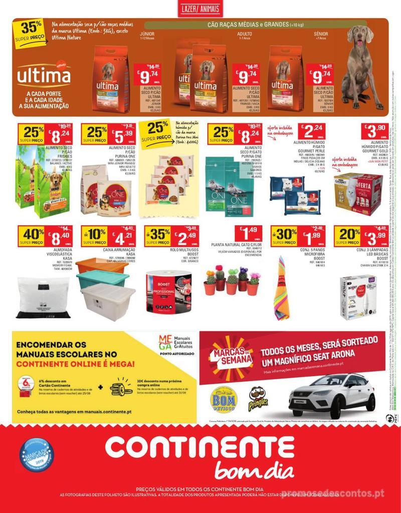 Folheto Continente Tudo aos preços mais baixos - Continente Bom dia - 13 de Agosto a 19 de Agosto - página 20