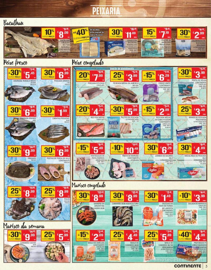 Folheto Continente Tudo aos preços mais baixos - Continente Bom dia - 13 de Agosto a 19 de Agosto - página 3