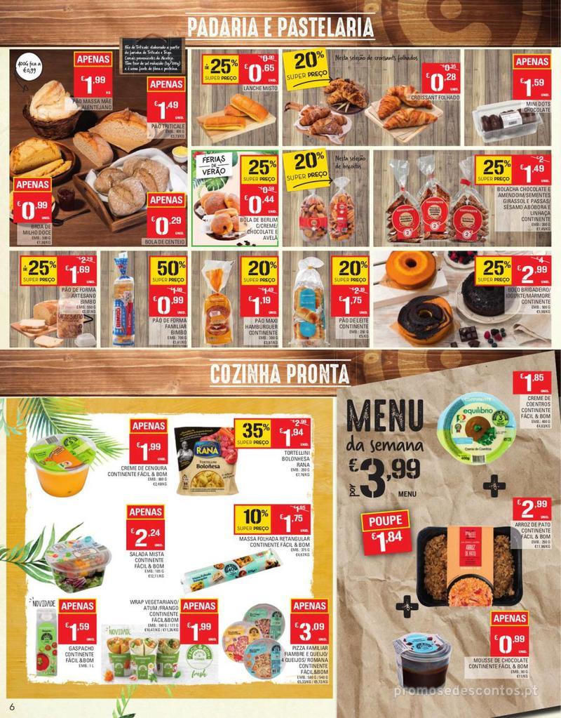 Folheto Continente Tudo aos preços mais baixos - Continente Bom dia - 13 de Agosto a 19 de Agosto - página 6